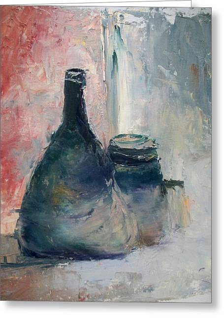 Bottle And Jar Greeting Card