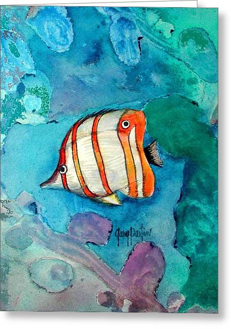 Bottle Nose Tropical Fish Greeting Card