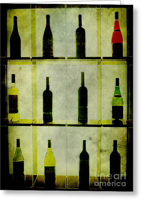 Bottles Greeting Card by Alexander Bakumenko