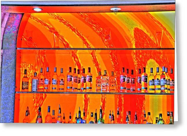 Bottles Greeting Card by Barry R Jones Jr