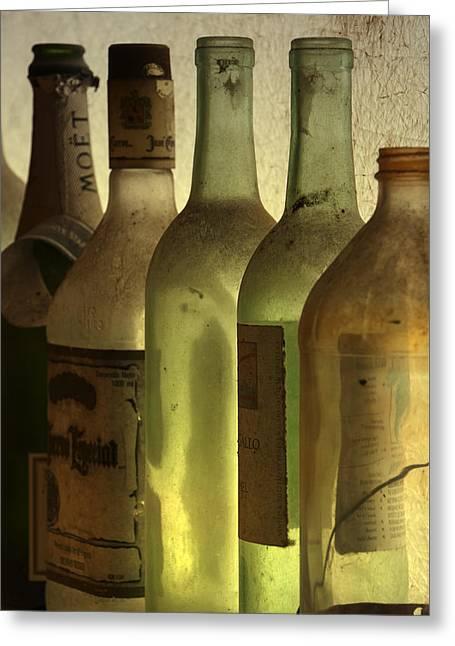 Bottles Still Greeting Card by Kelly Rader