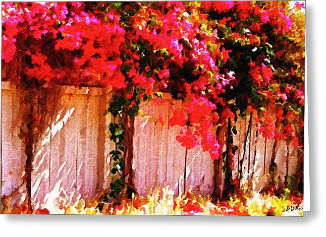 Bougainvillea Greeting Card by Brian D Meredith