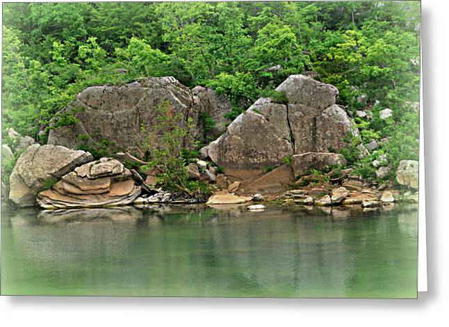 Boulders In The Buffalo Greeting Card by Marty Koch