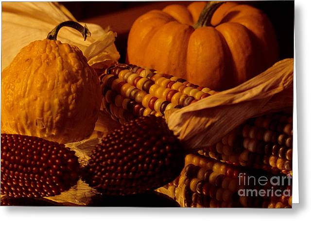 Bountiful Harvest Greeting Card by Sharon Elliott