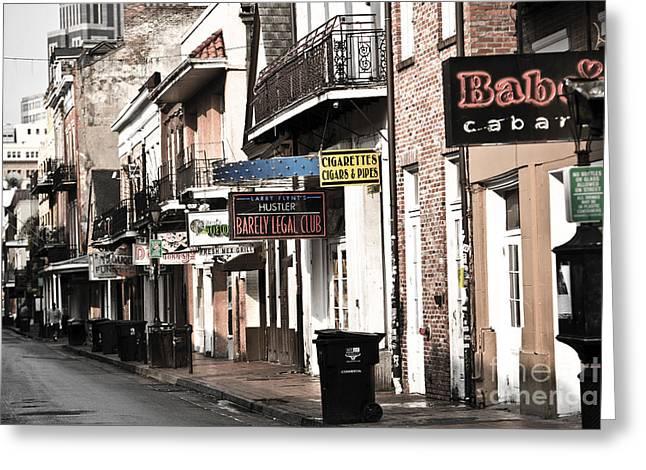Bourbon Street Greeting Card by Leslie Leda