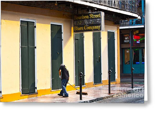 Bourbon Street Morning Greeting Card