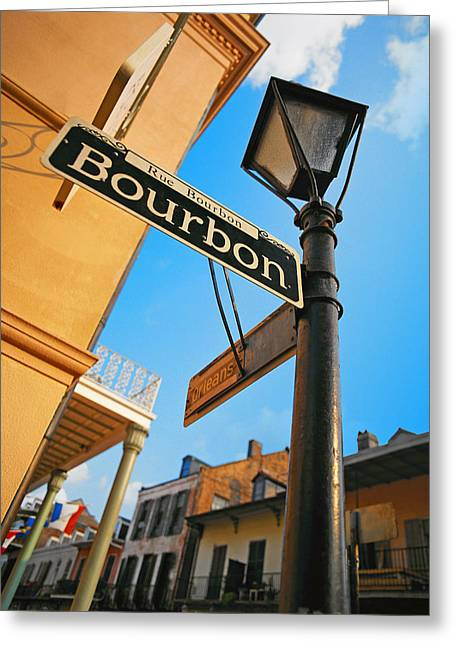 Bourbon Street New Orleans Greeting Card
