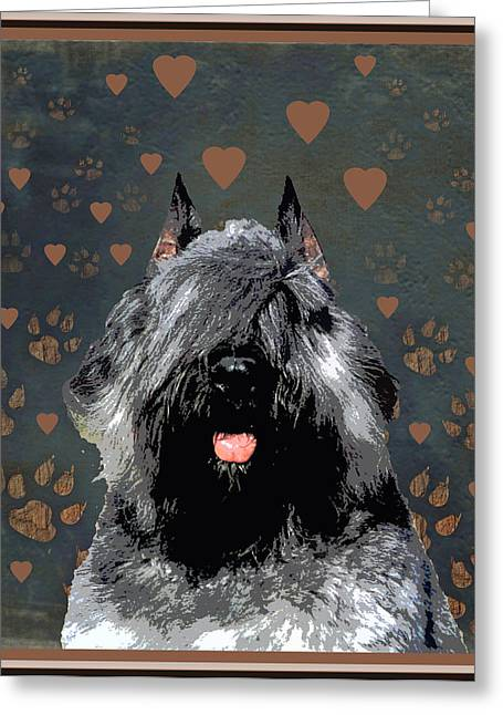 Bouvier Des Flandres Greeting Card by One Rude Dawg Orcutt