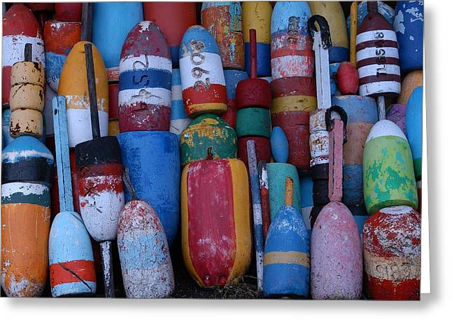 Bouys No Gulls Greeting Card by Mike Martin