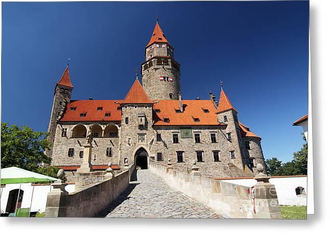 Bouzov Castle Greeting Card by Michal Boubin