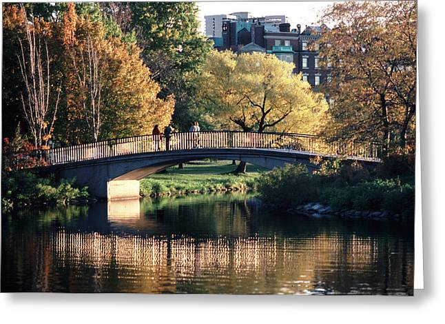 Bow Bridge Back Bay Boston Greeting Card