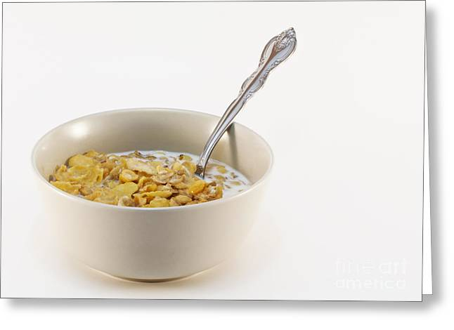 Bowl Of Cereal Greeting Card by Blink Images
