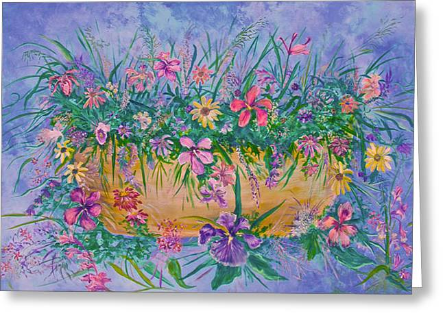 Bowl Of Flowers Greeting Card