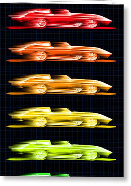 1959 Stingray Box Of Crayons Greeting Card