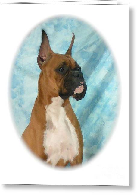 Boxer 795 Greeting Card by Larry Matthews