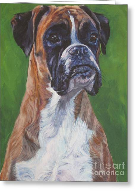 Boxer Greeting Card by Lee Ann Shepard