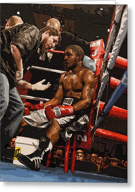 Boxer Greeting Card by Wade Aiken