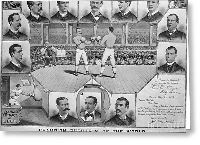 Boxing: American Champions Greeting Card by Granger