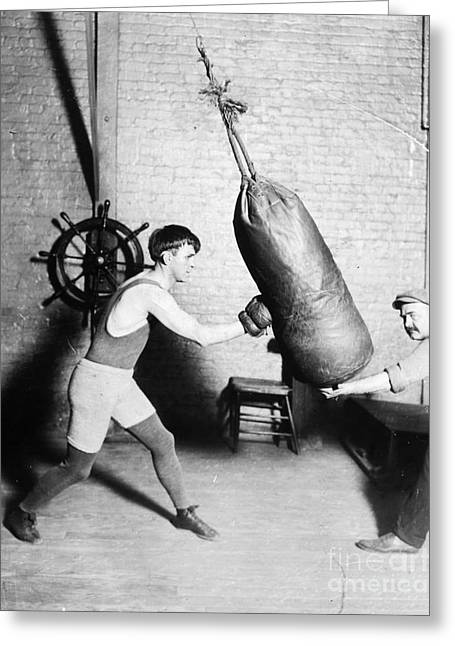 Boxing: Bat Nelson, 1920 Greeting Card by Granger