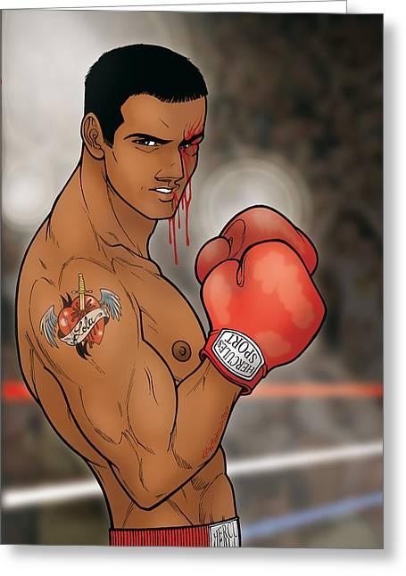 Boxing Julian Greeting Card