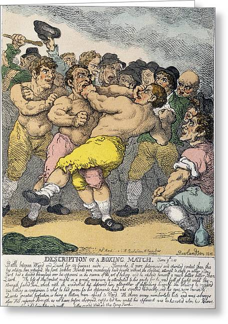 Boxing Match, 1812 Greeting Card by Granger