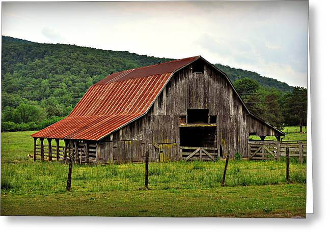 Boxley Barn Greeting Card by Marty Koch