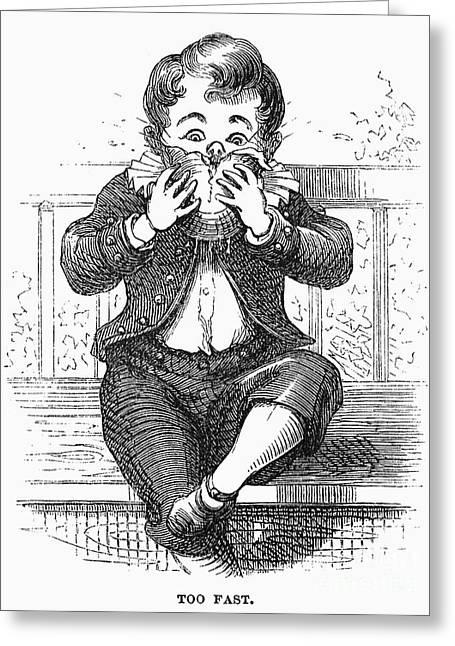 Boy Eating Greeting Card by Granger