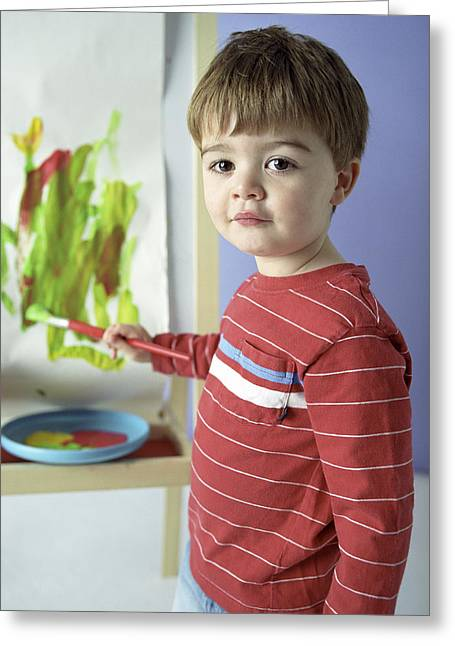 Boy Painting Greeting Card