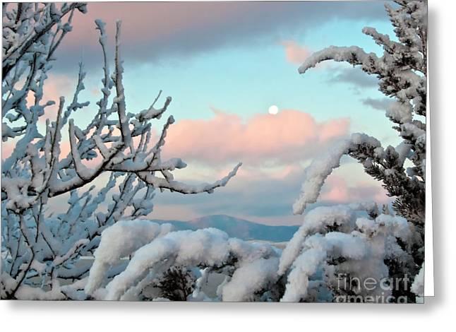 Boyd Lake Winter Sunrise Greeting Card by Harry Strharsky