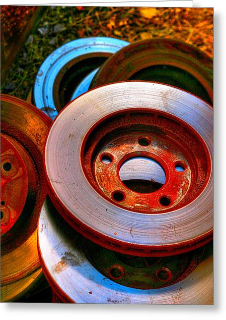 Brakes Greeting Card by Terry Finegan