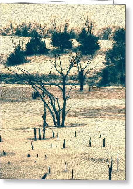 Branched Reprieve Greeting Card by Bill Tiepelman