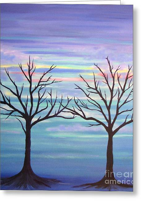Greeting Card featuring the painting Branching Out by Stacey Zimmerman