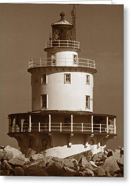 Brandywine Shoal Lighthouse Greeting Card by Skip Willits