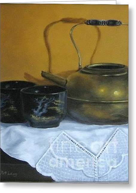 Brass Kettle Greeting Card by Patricia Lang
