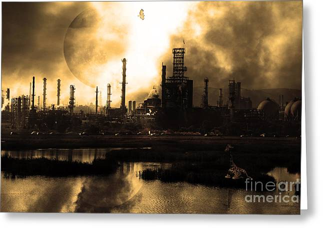 Brave New World - Version 2 - Sepia - 7d10358 Greeting Card