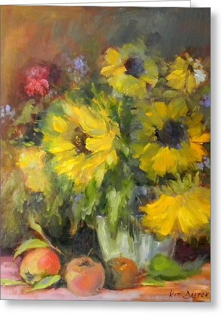 Brazen Sunflowers Greeting Card