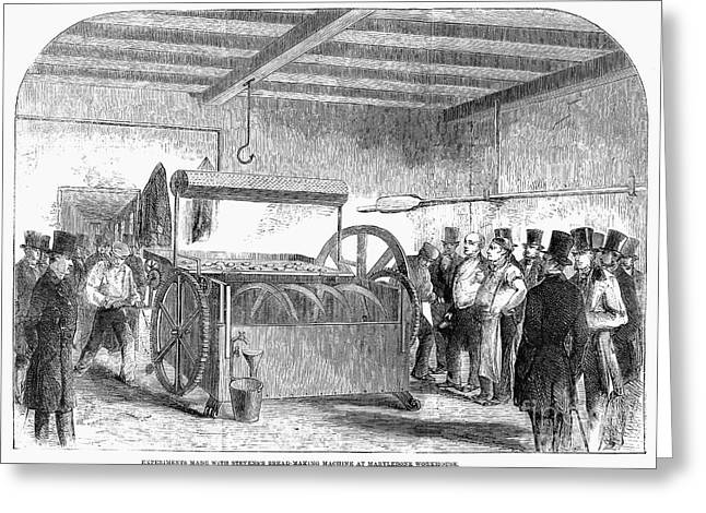 Bread-making Machine, 1858 Greeting Card by Granger