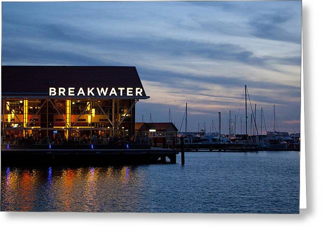 Greeting Card featuring the photograph Breakwater  by Serene Maisey