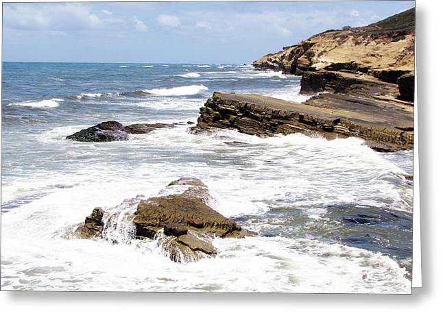 Breakwaters At Point Loma Greeting Card