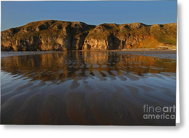 Brean Down Reflection Greeting Card by Urban Shooters
