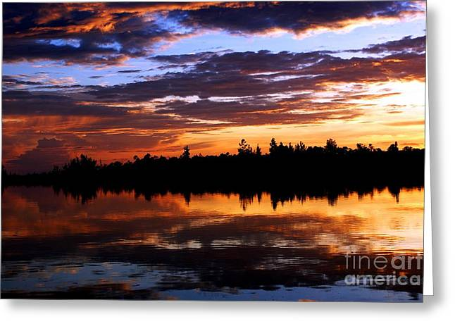 Breathtaking Sunset Greeting Card by Luis and Paula Lopez
