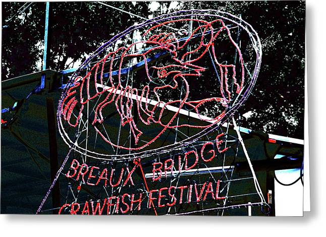 Breaux Bridge Crawfish Festival Greeting Card