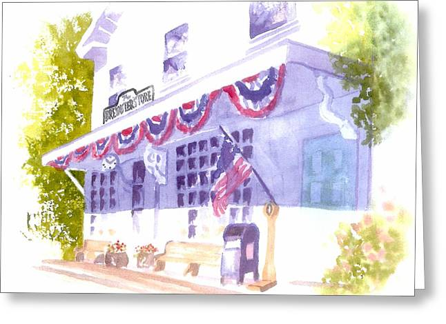 Brewster Store Greeting Card by Joseph Gallant