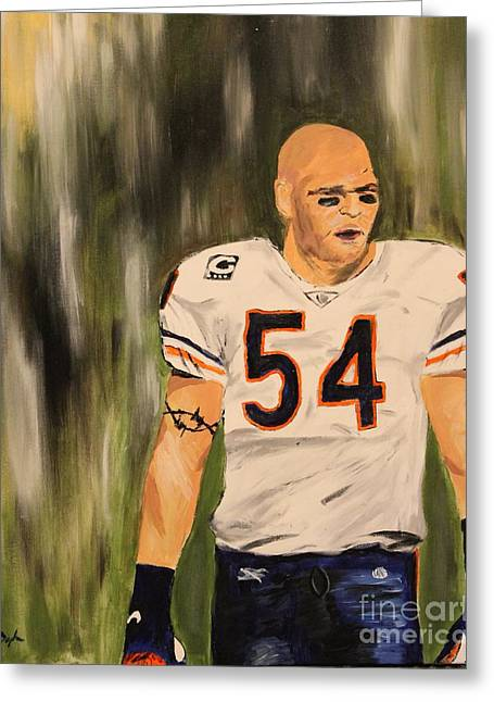 Brian Urlacher Greeting Card