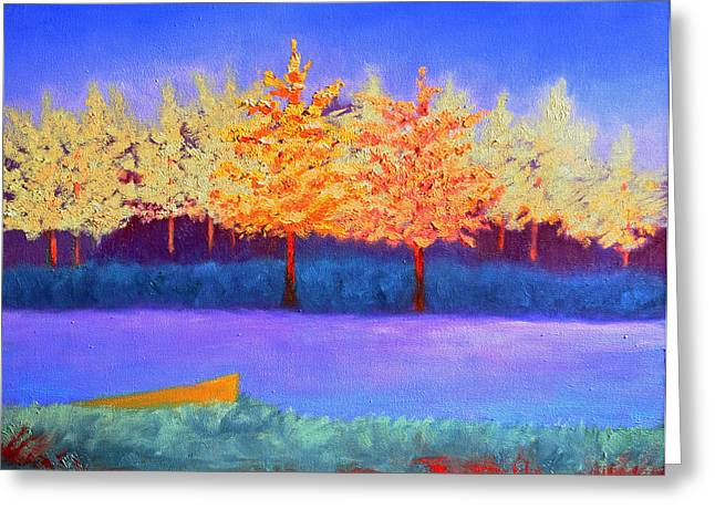 Brians Lake Greeting Card by Karin Eisermann