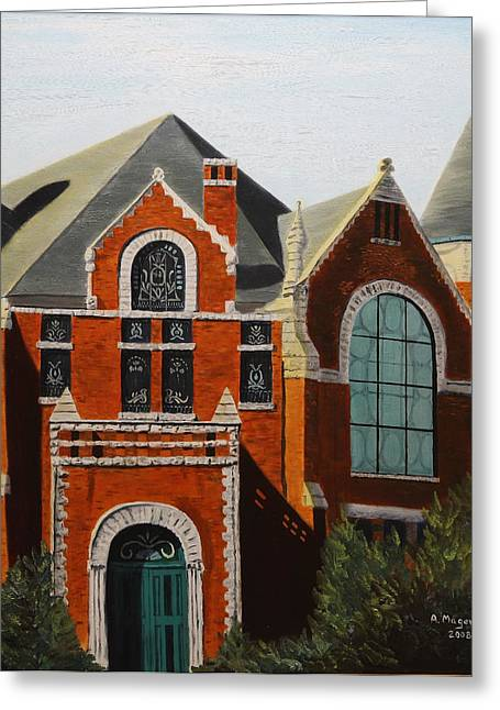 Brick Masterpiece Greeting Card by Alan Mager