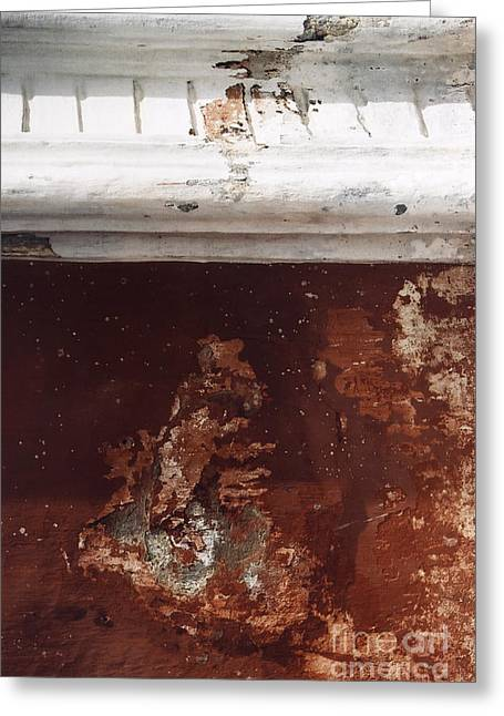 Greeting Card featuring the photograph Brick Red Wall Detail by Agnieszka Kubica