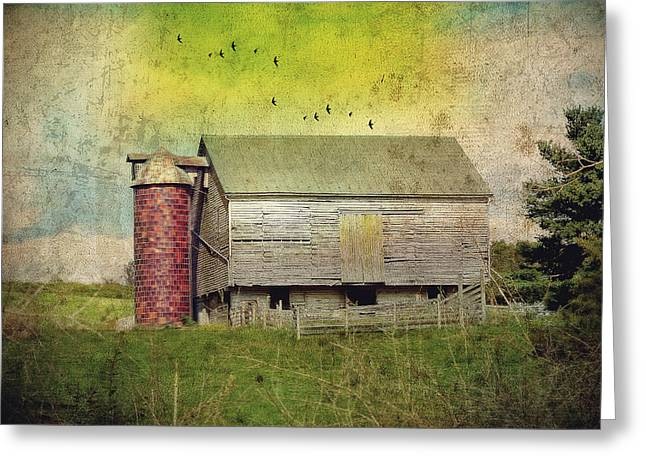 Brick Silo Greeting Card by Kathy Jennings