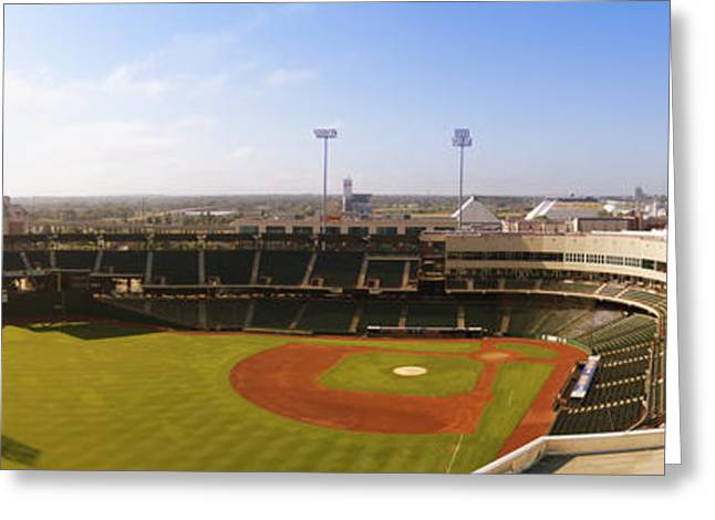 Bricktown Ballpark Greeting Card by Ricky Barnard