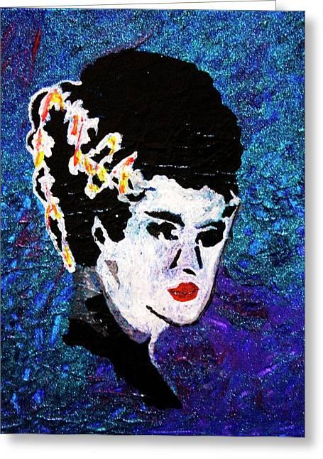 Bride Of Frankenstein Greeting Card by April Harker